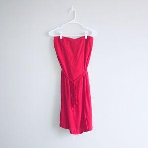 Gap Red Strapless Dress